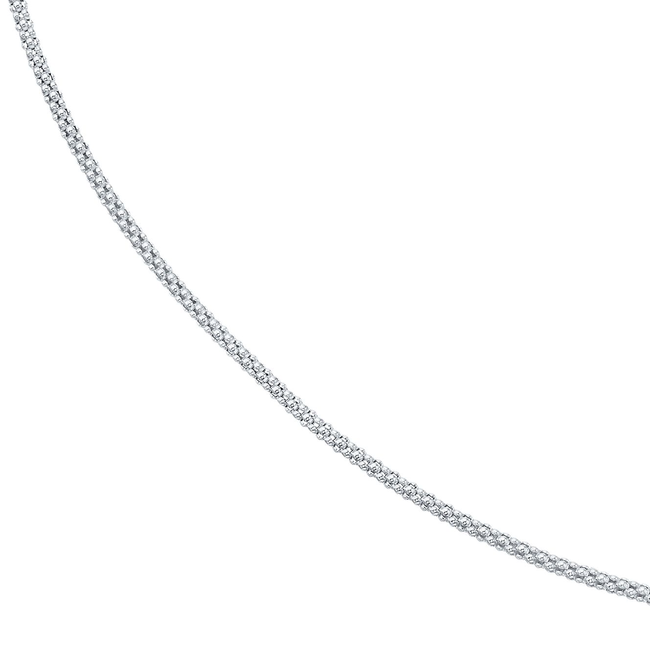 Sterling Silver 30 Inch Spiga Necklace - Product number 4419324