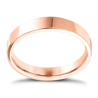 9ct Rose Gold Extra Heavy Flat Court 5mm Ring - Product number 4419359
