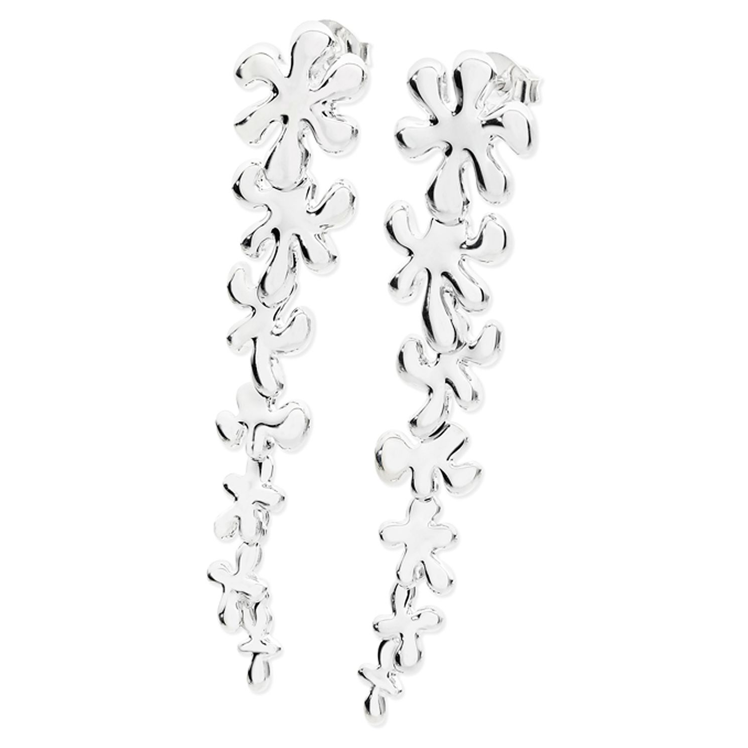 Lucy Quartermaine Silver 925 Long Taper Splash Earrings - Product number 4420020