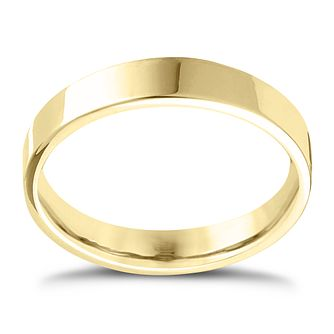 9ct Yellow Gold Extra Heavy Flat Court 5mm Ring - Product number 4420039