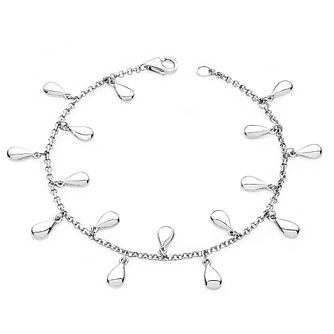 Lucy Quartermaine Silver 925 Teardrop Anklet - Product number 4420306