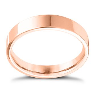 9ct Rose Gold Extra Heavy Flat Court 6mm Ring - Product number 4420438