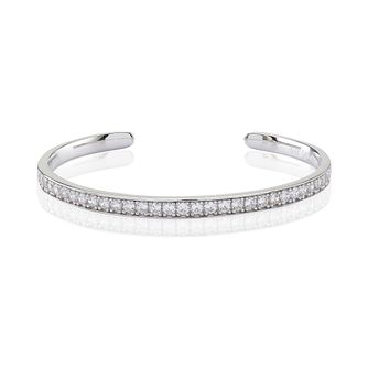 Sif Jakobs Simeri Sterling Silver White Zirconia Set Bangle - Product number 4422546