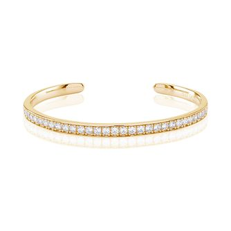 Sif Jakobs Simeri Gold Plated White Zirconia Bangle - Product number 4422554