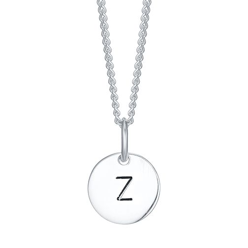 Sterling Silver Small Initial Z Disc Pendant - Product number 4422759