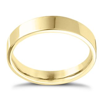 9ct Yellow Gold Extra Heavy Flat Court 6mm Ring - Product number 4422805