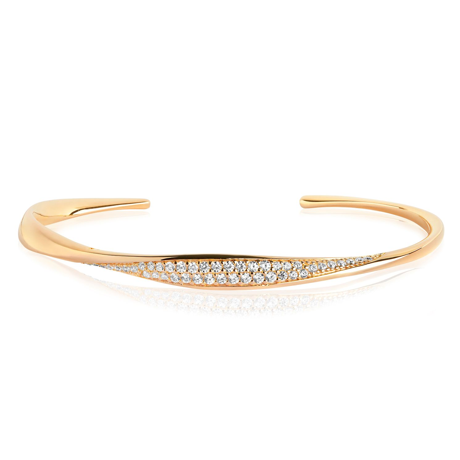 Sif Jakobs Cetara Gold Plated Zirconia Set Bangle - Product number 4422880