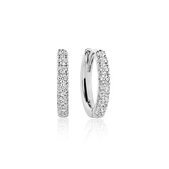 Sif Jakobs Ellera White Zirconia 14mm Hoop Earrings - Product number 4423151