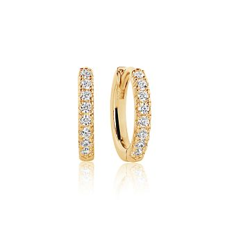 Sif Jakobs Ellera 18ct Gold Plated Zirconia Hoop Earrings - Product number 4423232