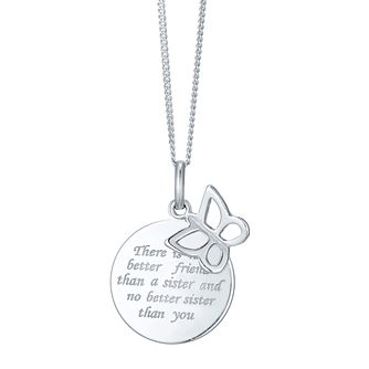 Sterling Silver Sister Sentiment Pendant - Product number 4423844