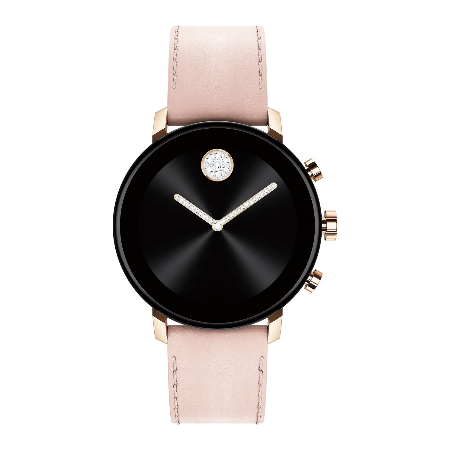 Movado Connect 2.0 Pink Leather Strap Smartwatch - Product number 4424735