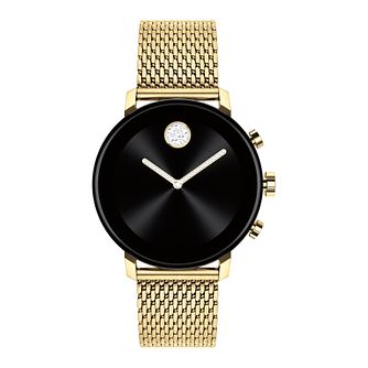 Movado Connect 2.0 Yellow Gold Plated Bracelet Smartwatch - Product number 4425189