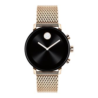 Movado Connect 2.0 Rose Gold Plated Bracelet Smartwatch - Product number 4425235