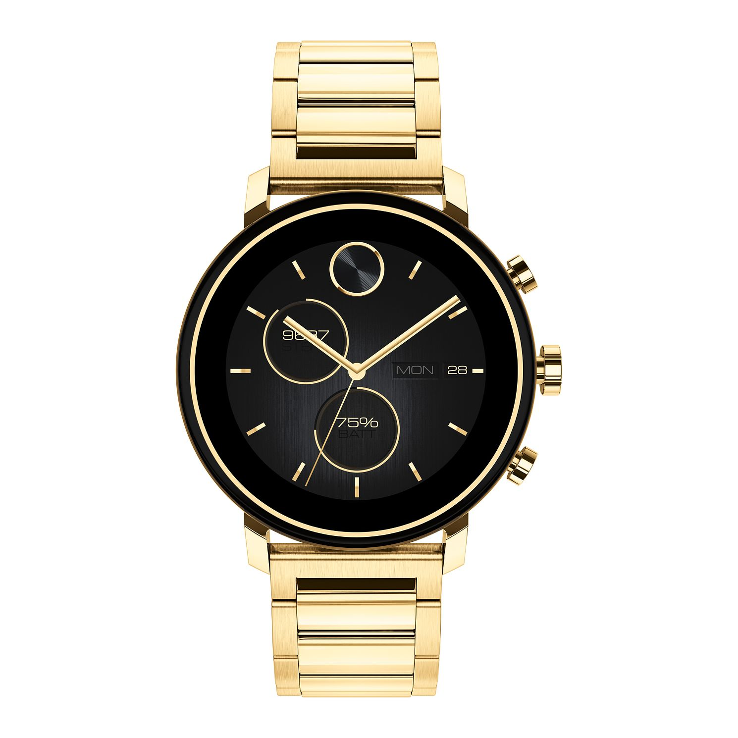 Movado Connect 2.0 Yellow Gold Plated Bracelet Smartwatch - Product number 4425286