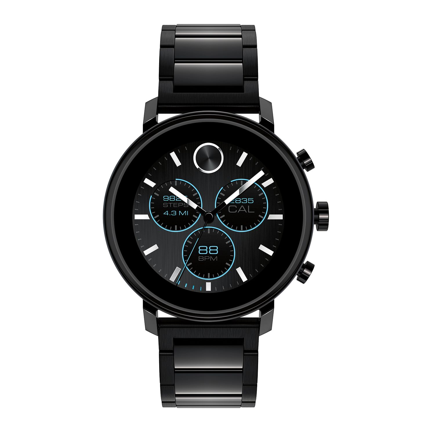 Movado Connect 2.0 Black Ion-Plated Bracelet Smartwatch - Product number 4425294