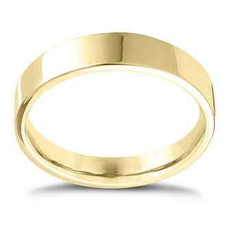 9ct Yellow Gold Extra Heavy Flat Court 7mm Ring - Product number 4425901