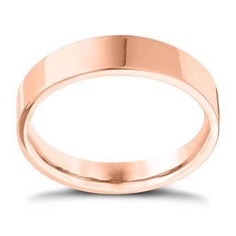 9ct Rose Gold Extra Heavy Flat Court 8mm Ring - Product number 4429737