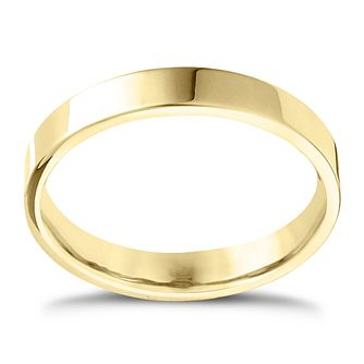 18ct Yellow Gold Extra Heavy Flat Court 2mm Ring - Product number 4431081