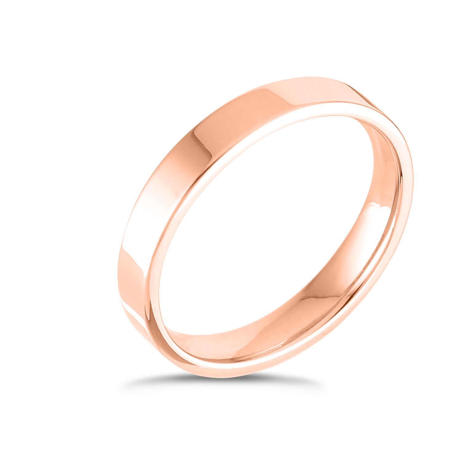 18ct Rose Gold Extra Heavy Flat Court 3mm Ring - Product number 4431286