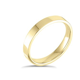 18ct Yellow Gold Extra Heavy Flat Court 3mm Ring - Product number 4431391