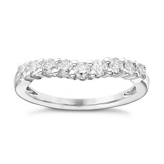Ladies' 18ct White Gold 1/2 Carat Diamond Set Shaped Band - Product number 4431537
