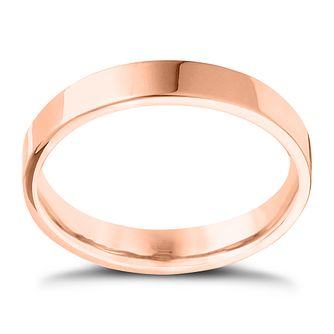 18ct Rose Gold Extra Heavy Flat Court 4mm Ring - Product number 4431618