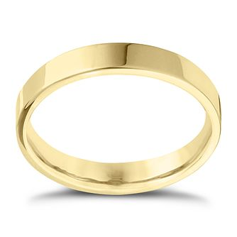 18ct Yellow Gold Extra Heavy Flat Court 4mm Ring - Product number 4432037