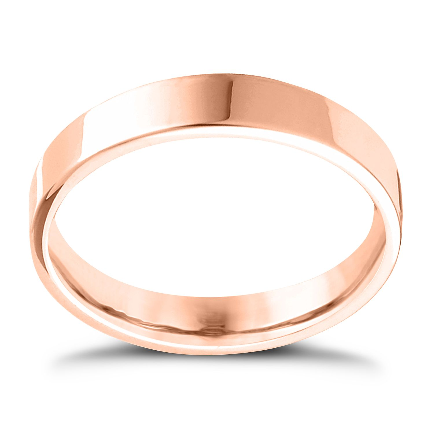 18ct Rose Gold Extra Heavy Flat Court 5mm Ring - Product number 4432517