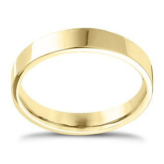 18ct Yellow Gold Extra Heavy Flat Court 5mm Ring - Product number 4432649