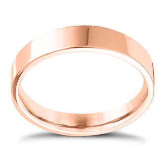 18ct Rose Gold Extra Heavy Flat Court 6mm Ring - Product number 4433300