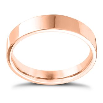 18ct Rose Gold Extra Heavy Flat Court 7mm Ring - Product number 4434188