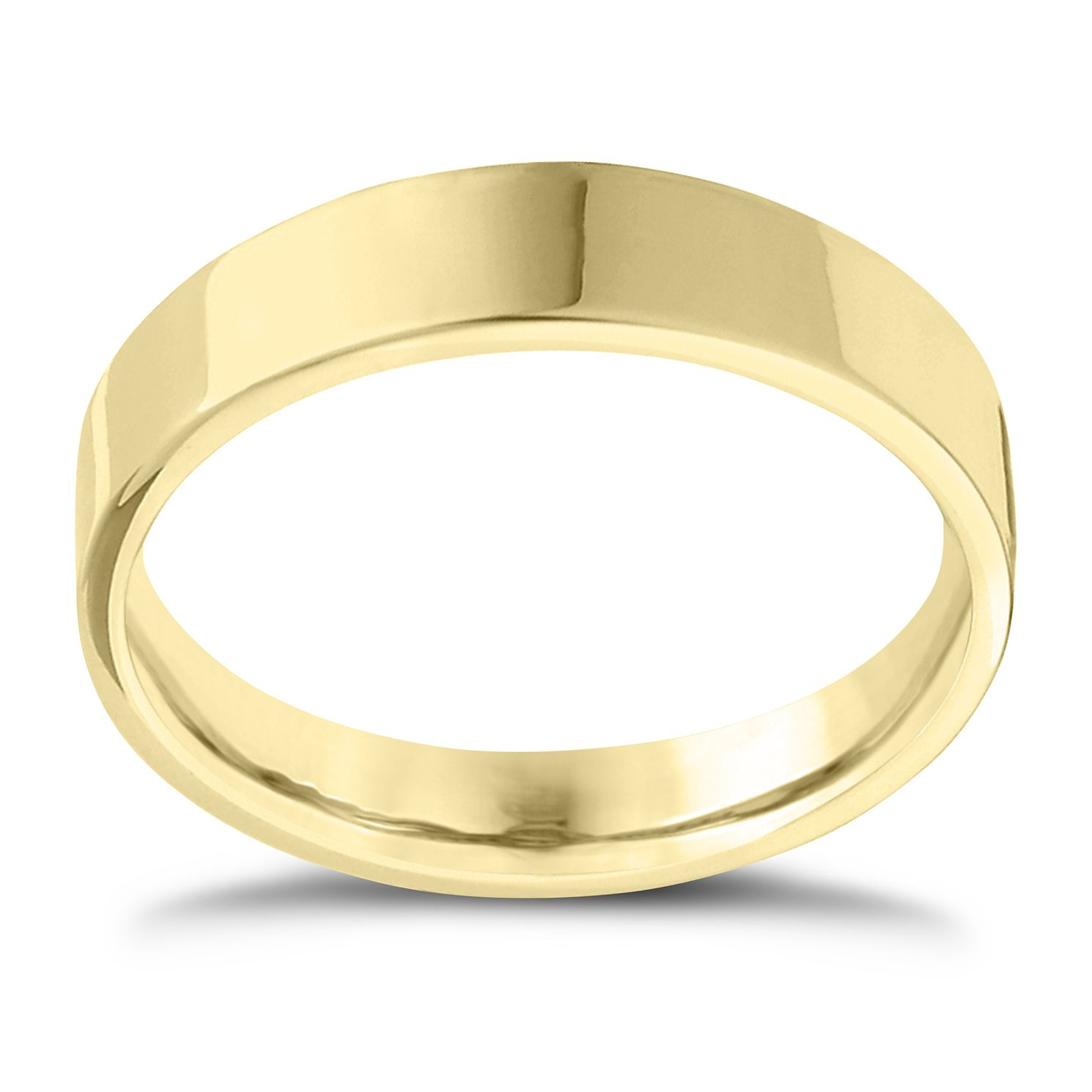 18ct Yellow Gold Extra Heavy Flat Court 8mm Ring - Product number 4434846