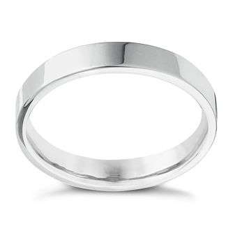 Platinum Extra Heavy Flat Court 4mm Ring - Product number 4434978