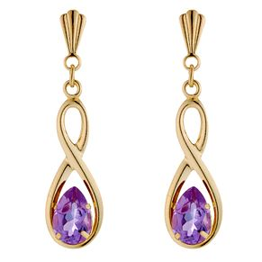 9ct Yellow Gold Amethyst Figure of 8 Pendant - Product number 8644748
