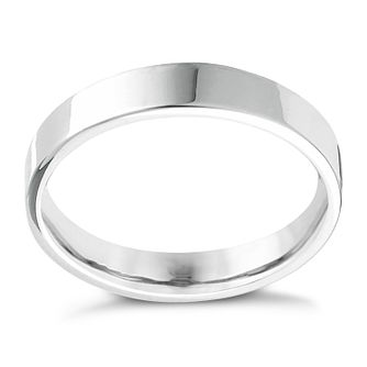 Platinum Extra Heavy Flat Court 5mm Ring - Product number 4436377