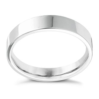 Platinum Extra Heavy Flat Court 6mm Ring - Product number 4436725