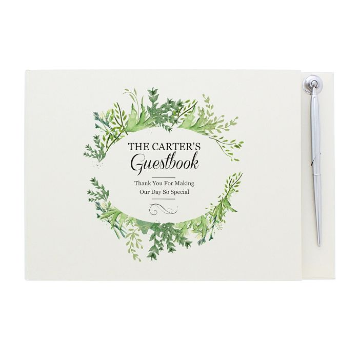 Personalised Fresh Botanical Guest Book & Pen Gift Set - Product number 4442156