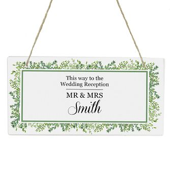 Personalised Fresh Botanical Wooden Sign - Product number 4442172