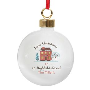 Personalised Cosy Christmas Bauble Ornament - Product number 4442210