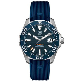 TAG Heuer Aquaracer Men's Blue Rubber Strap Watch - Product number 4445996