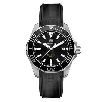 TAG Heuer Aquaracer Men's Black Rubber Strap Watch - Product number 4446003