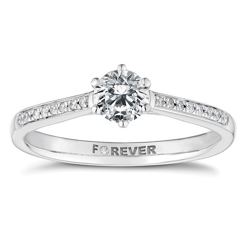Palladium 1/2ct Forever Diamond Solitaire Ring - Product number 4446534