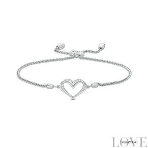 Vera Wang Silver Diamond Heart Adjustable Bracelet - Product number 4447417
