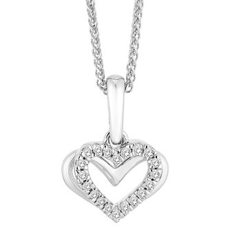 Vera Wang 18ct White Gold Diamond Heart Pendant - Product number 4450280