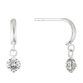 Silver Cubic Zirconia Crescent Drop Earrings - Product number 4451651