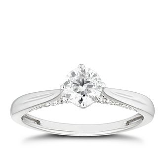 Platinum 2/3ct Diamond Solitaire Ring - Product number 4455320