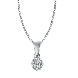 9ct White Gold 0.12ct Total Diamond Necklace - Product number 4455347