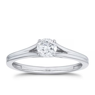 Platinum 1/3ct Diamond Solitaire Split Shoulders Ring - Product number 4456602