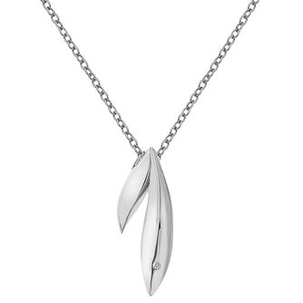 Hot Diamonds Sterling Silver Diamond Set Double Leaf Pendant - Product number 4459644