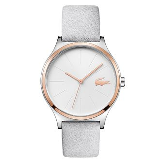 Lacoste Nikita Ladies' White Leather Strap Watch - Product number 4459865